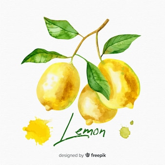 Aquarel citroen achtergrond