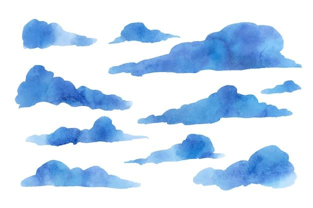 Aquarel cloud in the sky-collectie
