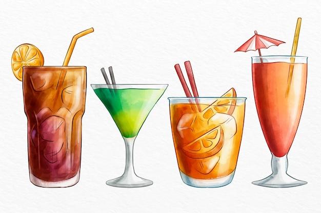 Aquarel cocktail collectie