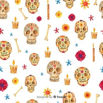 Aquarel dag van het dode patroon