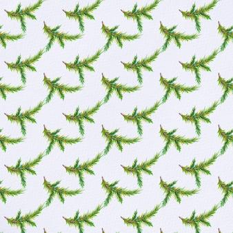 Aquarel dennenboom takken patroon