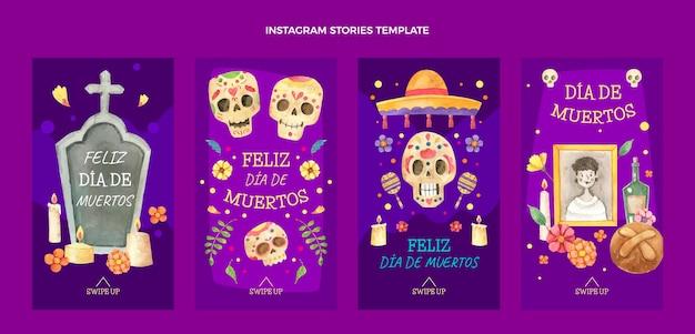 Aquarel dia de muertos instagram verhalencollectie
