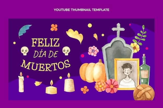 Aquarel dia de muertos youtube-thumbnail