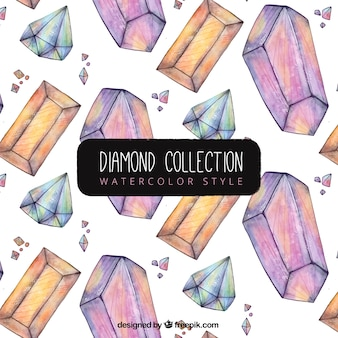 Aquarel diamantpatroon