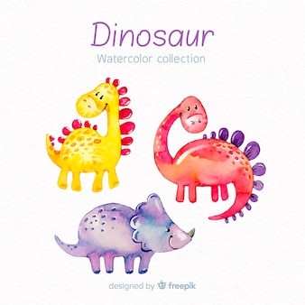 Aquarel dinosaurus collectie