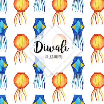 Aquarel diwali elementen collectie