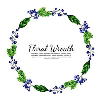 Aquarel eenvoudige bloemen krans
