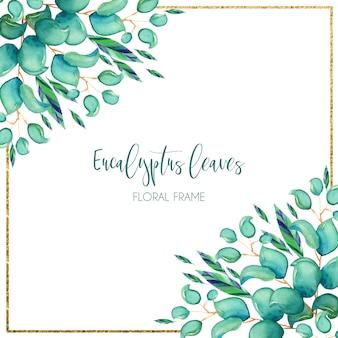 Aquarel eucalyptus achtergrond