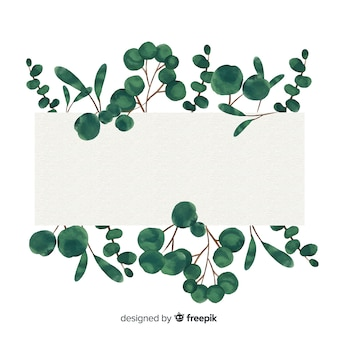 Aquarel eucalyptus banner met lege banner