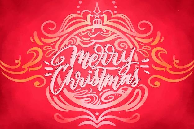 Aquarel feestelijke kerst achtergrond