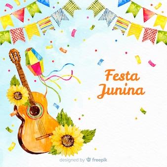 Aquarel festa junina achtergrond