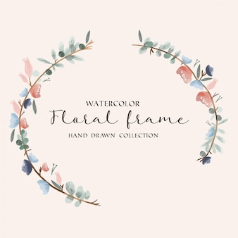 Aquarel floral frame hand getrokken collectie