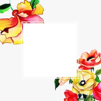 Aquarel floral frame multi-purpose achtergrond voor vieringen Gratis Vector