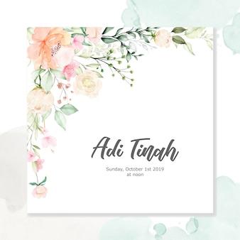 Aquarel floral frame multi-purpose achtergrond