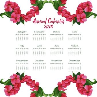 Aquarel floral kalender