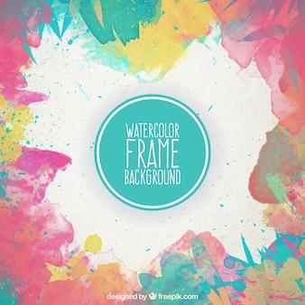 Aquarel frame achtergrond