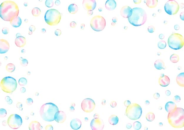 Aquarel frame met bubbels.