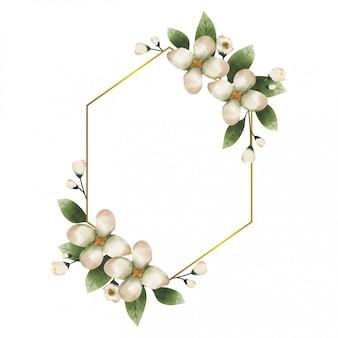 Aquarel frame met groene eucalyptus