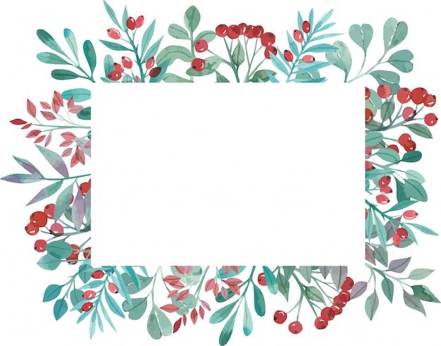 Aquarel frame van magnolia bloemen
