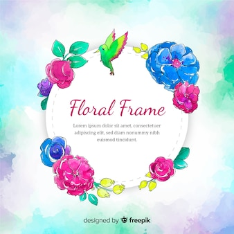 Aquarel frame voorjaar achtergrond