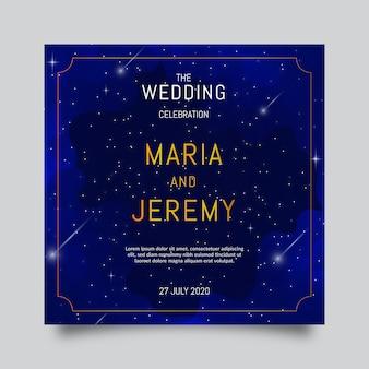 Aquarel galaxy bruiloft uitnodiging