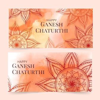 Aquarel ganesh chaturthi banner