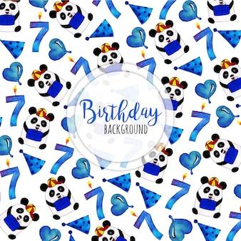 Aquarel gelukkige verjaardag achtergrond