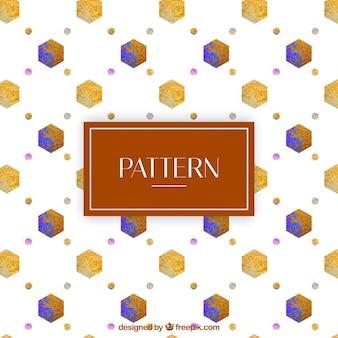 Aquarel geometrische patroon