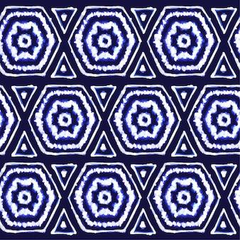 Aquarel geschilderd shibori patroon