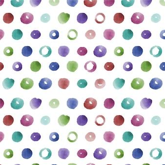 Aquarel gestippeld patroon