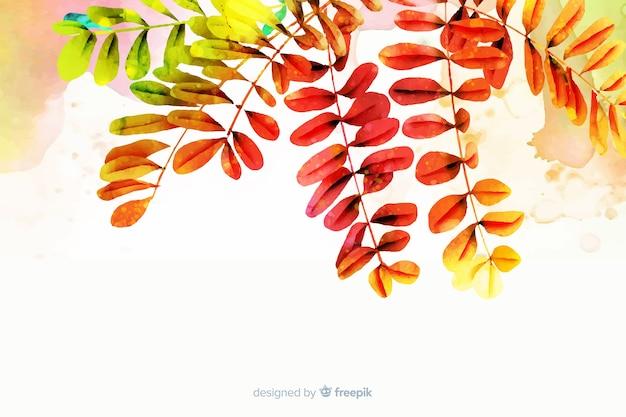 Aquarel gradiënt herfstbladeren achtergrond