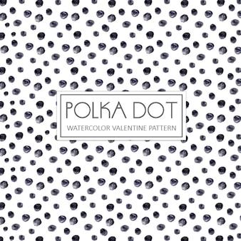 Aquarel grijze polka dot achtergrond