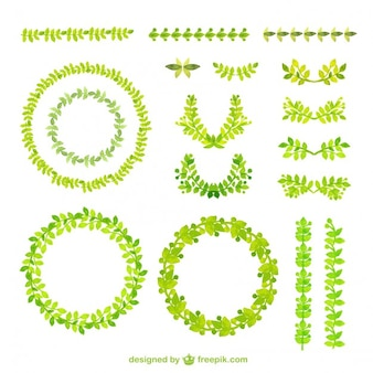 Aquarel groene kaders