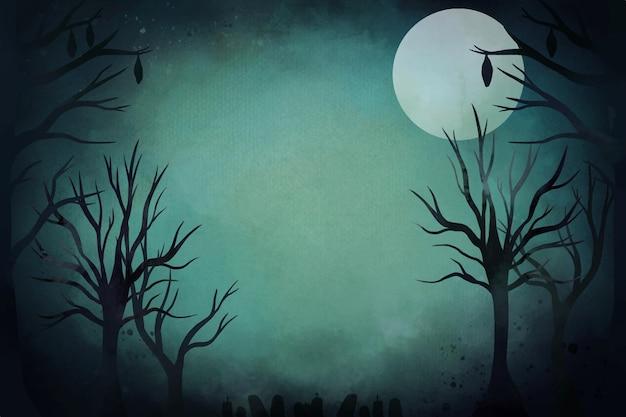Aquarel halloween achtergrond
