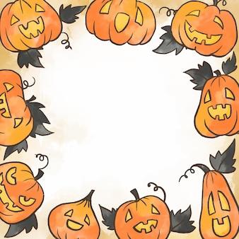 Aquarel halloween frame concept