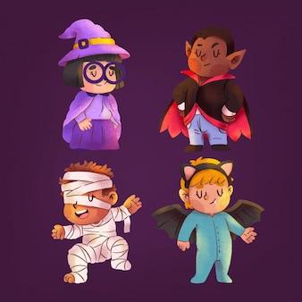 Aquarel halloween kindercollectie