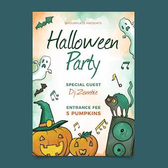 Aquarel halloween party poster