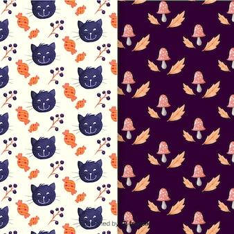 Aquarel halloween patroon collectie
