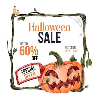 Aquarel halloween verkoop