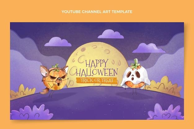 Aquarel halloween youtube-kanaalkunst