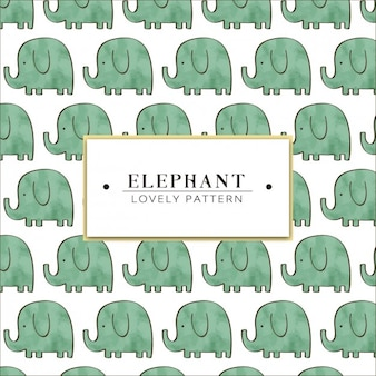 Aquarel hand beschilderde olifant patroon
