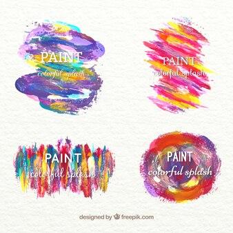 Aquarel hand beschilderde vlekken