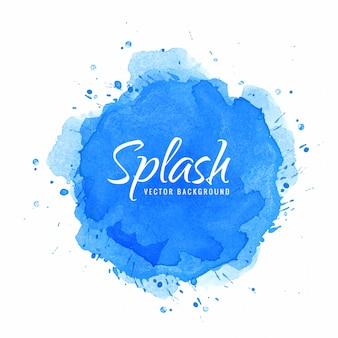 Aquarel hand verf splash