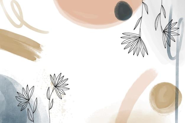 Aquarel handgetekende achtergrond met bloemen