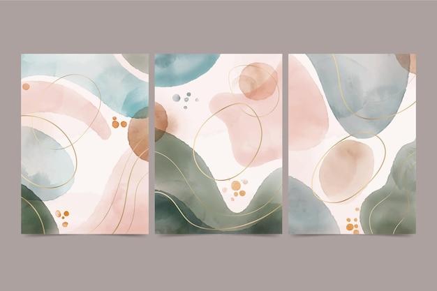 Aquarel handgetekende covers collectie covers