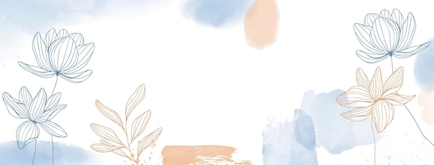 Aquarel handgetekende facebook voorbladsjabloon