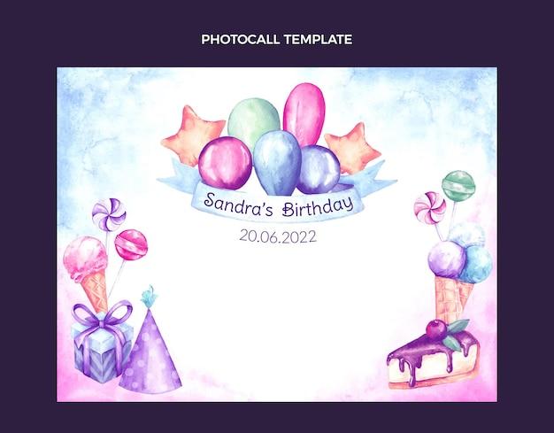 Aquarel handgetekende verjaardag photocall