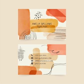 Aquarel handgetekende visitekaartjes