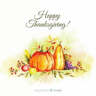 Aquarel happy thanksgiving achtergrond