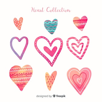 Aquarel hart collectie